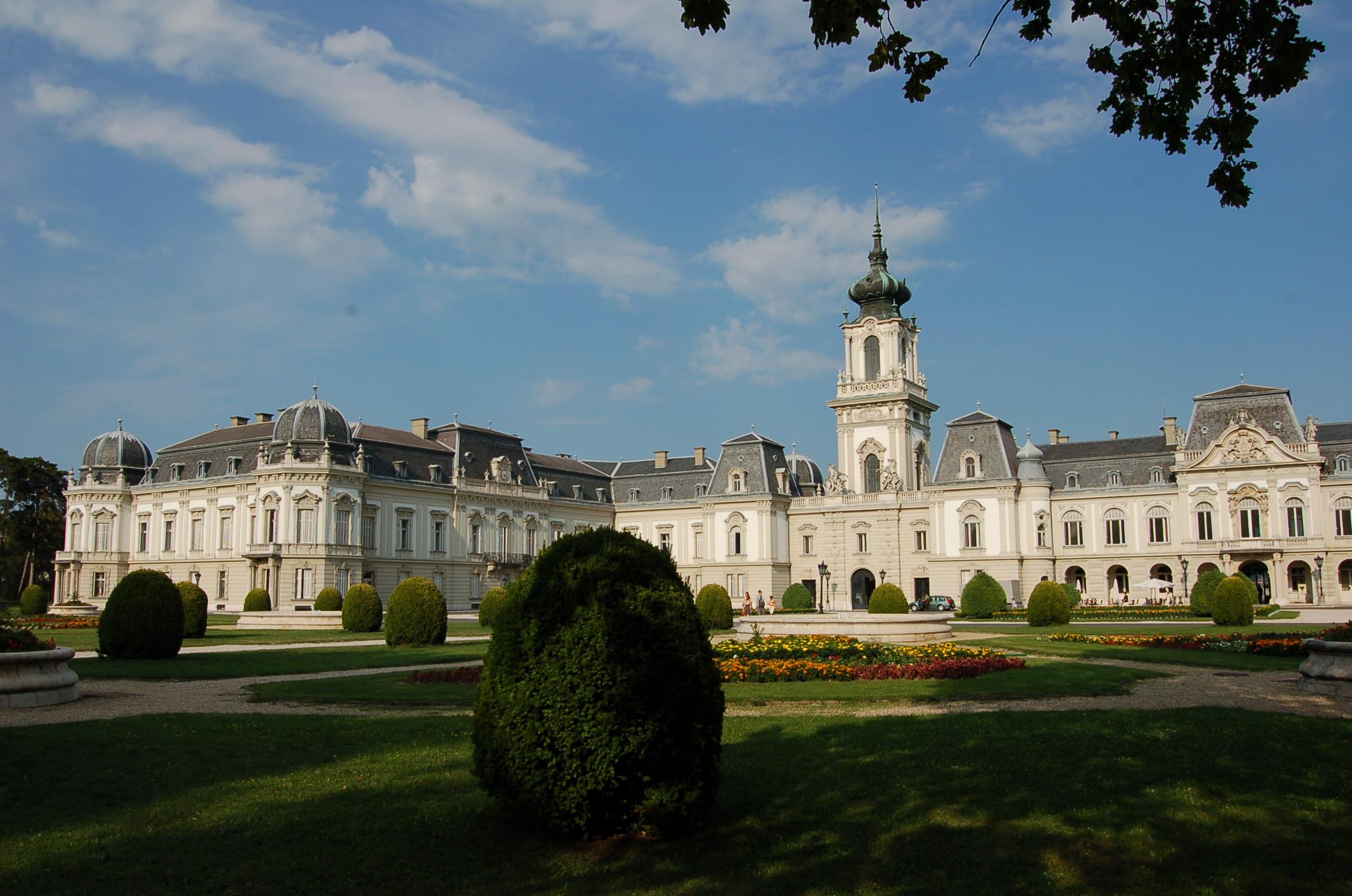 Keszthely: Festetics-Schloss, Parkseite